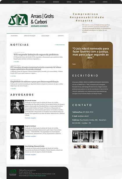 Desenvolvimento de site para Advocacia