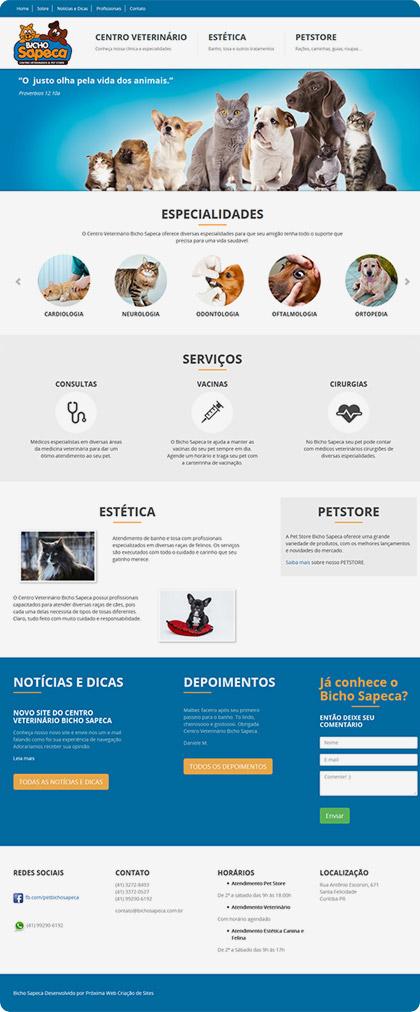 Criação de site para Pet Shop