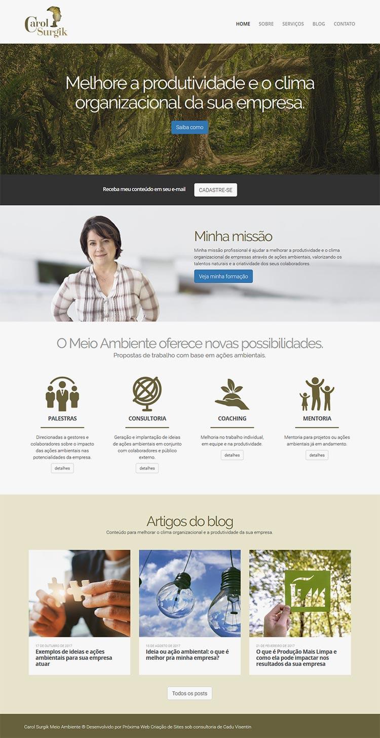 Criação de Site para Coach e Consultora